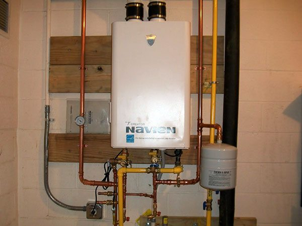 St John Vianney of Prince Frederick, MD – in with the new Tankless Water Heater!