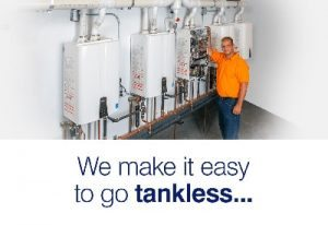 tankless hot water heater by Navien