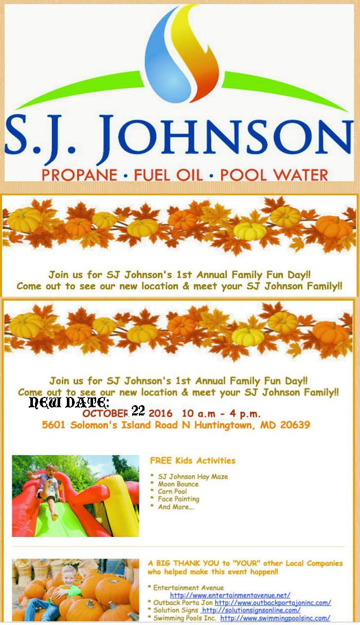 S.J Johnson Family Event Copy Card in Huntingtown MD
