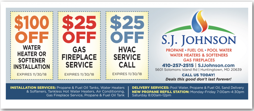 Water softener service coupon