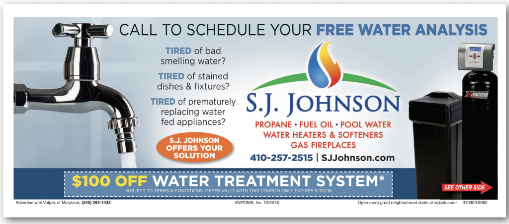 Water treatment system coupon.